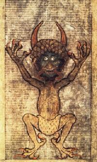 Bild som inspirerade till skapandet av Djävulsbibeln